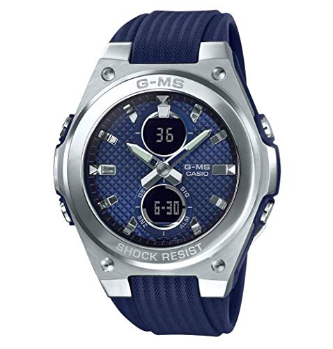 Ladies' Casio Baby-G G-MS Stainless Steel and Navy Dial Watch MSGC100-2A (G Dial Watch Baby)