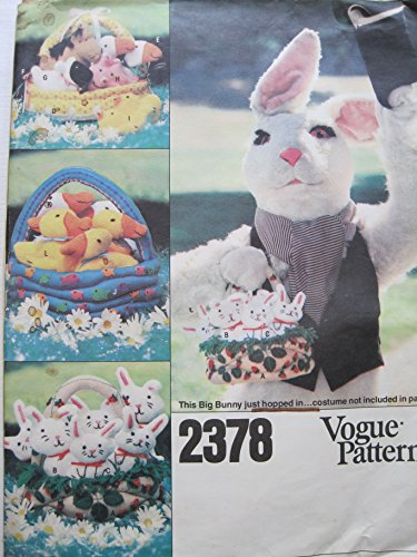 Vogue Pattern 2378 Easter Baskets and Animals