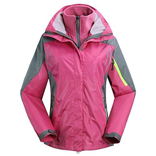 Baqijian Jacket Snowboarding Jackets, 3 In 1 Ski Jacket Fleece Liner Warm Coat - Windproof, Outdoor, Large, - 3 Snowboarding Sims