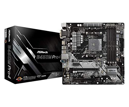 ASRock MicroATX Motherboard (B450M PRO4)