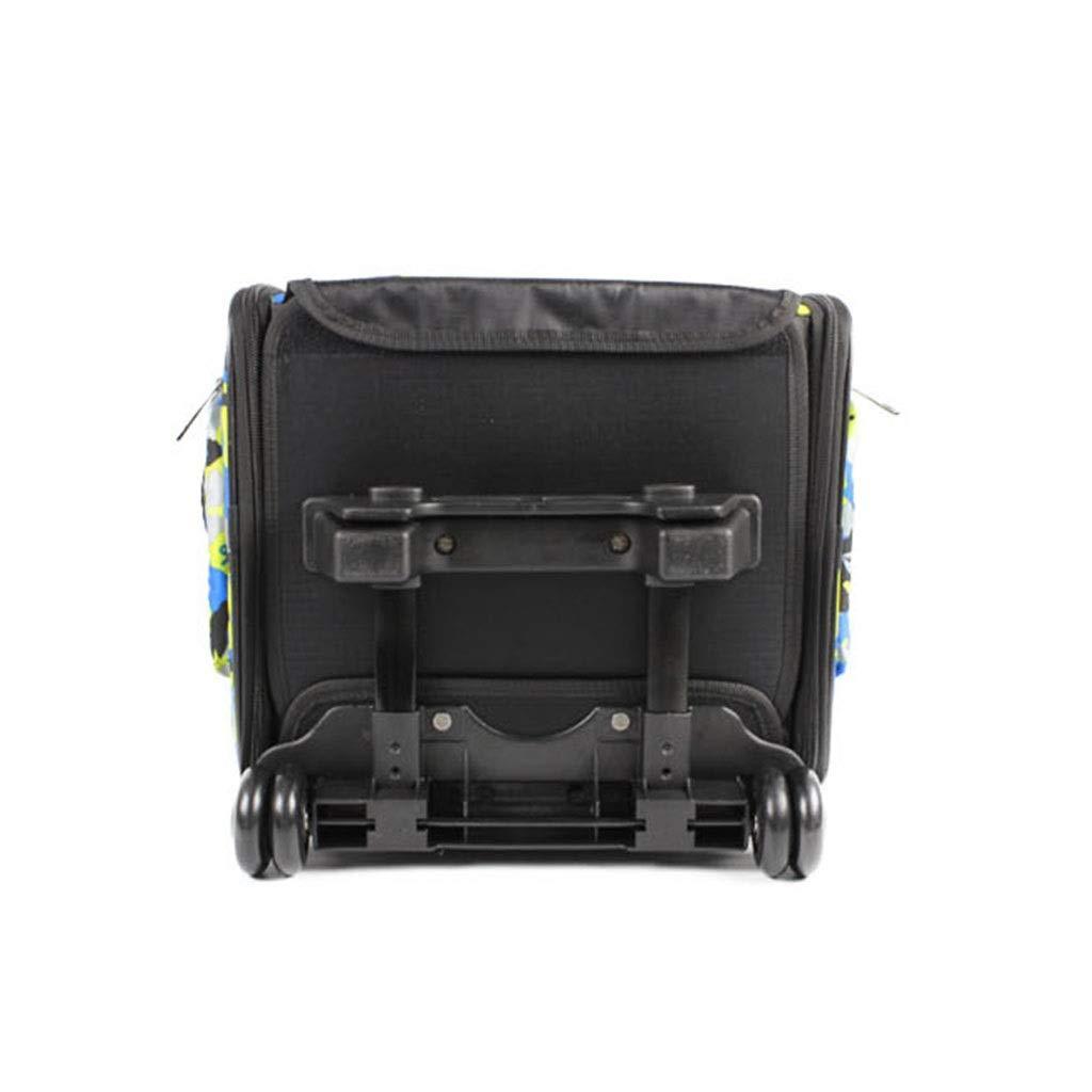 B Jlxl Pet Carrier Trolley, Travel Dog Transport Box Portable Telescopic Handle Foldable Outcrop Net Backpack Adjustable Shoulder Strap (color   B)