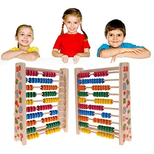 DaKuHo Wooden Arithmetic Math Toy Baby Wooden Toys Small Abacus Handcrafted Educational Toys for Children Early Learning Math Wood Toy Brinquedos Juguets