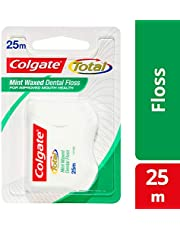 Colgate Total Mint Waxed Durable Oral Care Dental Floss, 25 count