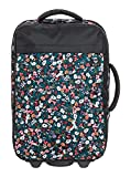 Roxy Womens Feel The Sky 35L - Wheeled Cabin Suitcase - Women - One Size - Black Anthracite Bouquet S One Size