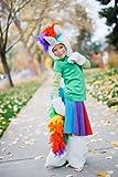 Rainbow Twirly Skirt for Girls Upcycled T-Shirt Circle Skirts