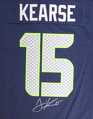 brand new c1512 26e9a Seattle Seahawks Jermaine Kearse Signed Blue Nike Jersey ...