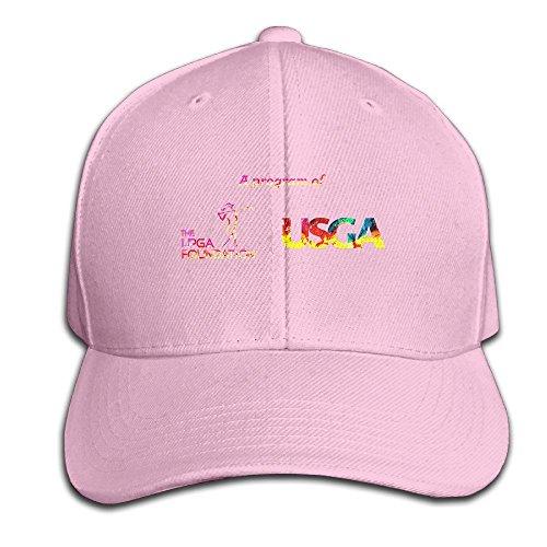 XSSYZ Unisex LPGA Logo Adjustable Baseball Caps Pink