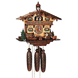 Schneider Cuckoo Clocks 8-Day 13 in. Black Forest House Clock