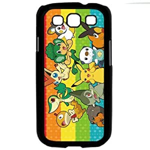 Pokemon Popular Cute Pikachu Samsung Galaxy S3 SIII i9300 TPU Soft Black or White Cases (Black)