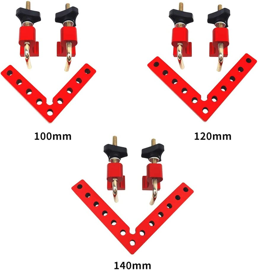 120//140//160mm Aluminium Alloy Right Angle Clamps Woodworking Clamping Tool Birmingfive 90 Degree L-Shaped Positioning Squares