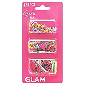 Goody Glam Ouchless Polybands Elastics, Multi Size, 275 ct