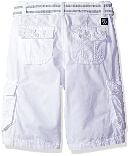 Southpole Boys' Belted Mini Canvas Cargo Shorts In Various Colors, White, 8 by Southpole (Image #2)