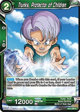 Dragon Ball Super TCG - Trunks, Protector of Children - Series 1 Booster Galactic Battle - (Series 1 Booster: Galactic Battle) - BT1-069