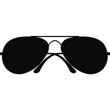 Stylish sunglasses wall art sticker vinyl stickers deco h 25cm w