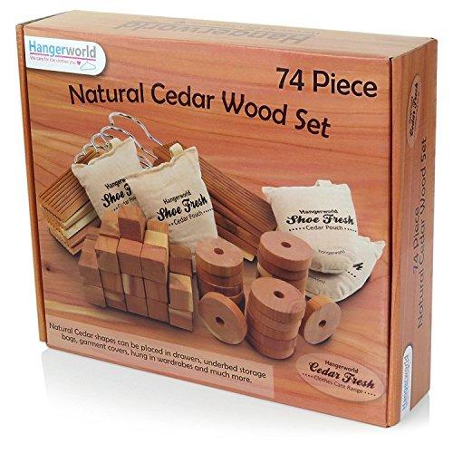 Hangerworld Mixed Cedar Pieces Fresheners