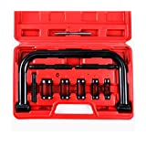 Orion Motor Tech 10pcs Solid Valve Spring Compressor Automotive C Clamp Tool Set Repair Tool Kit Auto Motorcycle ATV Engine HD