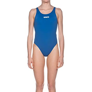 arena Solid Swim Tech High One Piece Swimsuit Women royal White 2019 Schwimmanzug