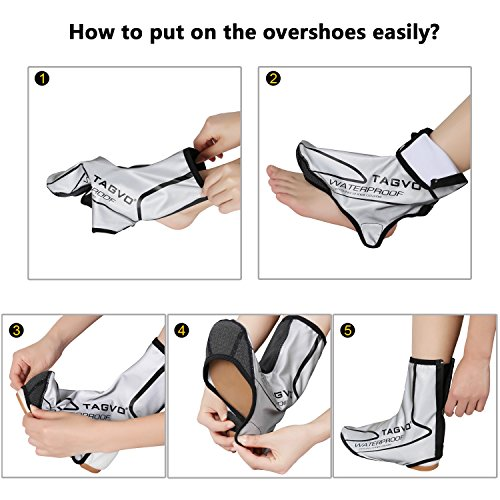 Snow Reflective De Impermeables Pies Protector Biking Cubrebotas Polainas Tagvo Boot Ciclismo Rain Plata Bicycle Windproof Cubrezapatillas Cycle CYqPxt5f