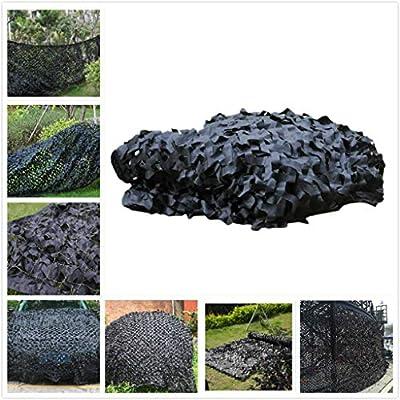 Toldos para Jardin Red de Camuflaje, Red de Camuflaje Militar Reforzado Tela de Oxford/Cubierta de Camuflaje Red de Sombra for Jardín Pérgola de Invernadero for Acampar Caza Oculta, Negro Tamaños Múlt: Amazon.es: