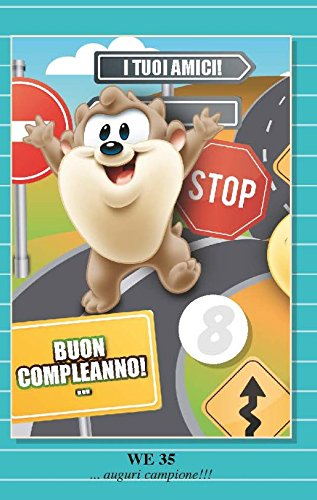 Tarjeta Felicitación cumpleaños con rueda de 1 a 9 años Taz ...