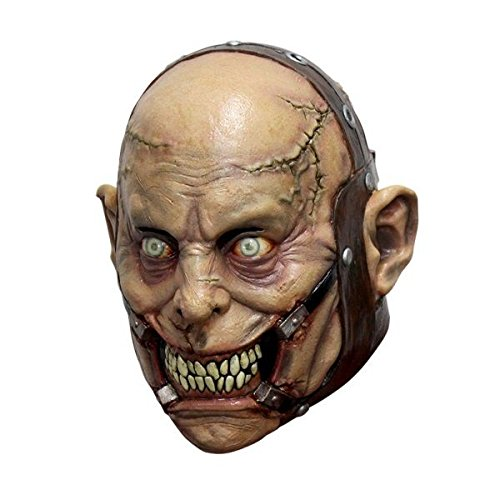 Psycho Lunatic Latex Mask Halloween Haunted House Asylum Full Over the Head Mask -