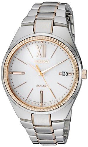 Seiko Women s SNE878 RECRAFT Solar Analog Display Japanese Quartz Two Tone Watch