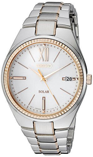 Seiko Women's SNE878 RECRAFT Solar Analog Display Japanese Quartz Two Tone Watch