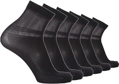 Sept.Filles Socks Mens Pure Silk Socks Ultrathin Crew Socks Packs of 7
