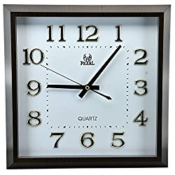 13.5 Inch Modern Non Ticking Silent Quartz Analog Digital Square Wall Clock