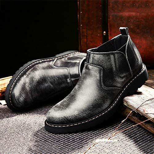 Stivali Martin Brogue Classic Pelle Chelsea Vera Inverno Stivali Safety Stivaletti Oxblood Pelle Uomo retr Boots qPaw7