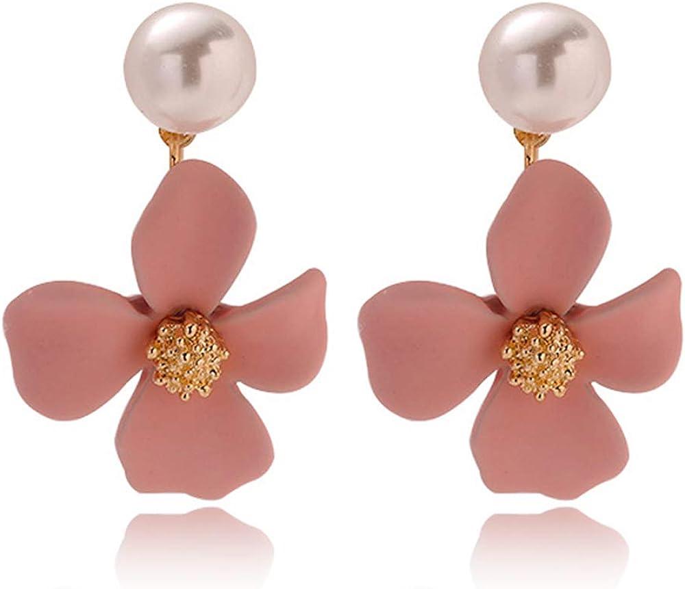 2020 Boho Women Ear Stud Earring Handmade Metal Daisy Flower Geometric Earrings