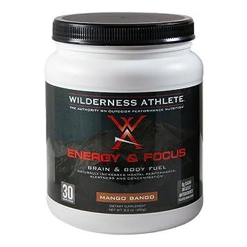 Wilderness Athlete Energy and Focus Tub, Mango Bango, 15.9 Ounce