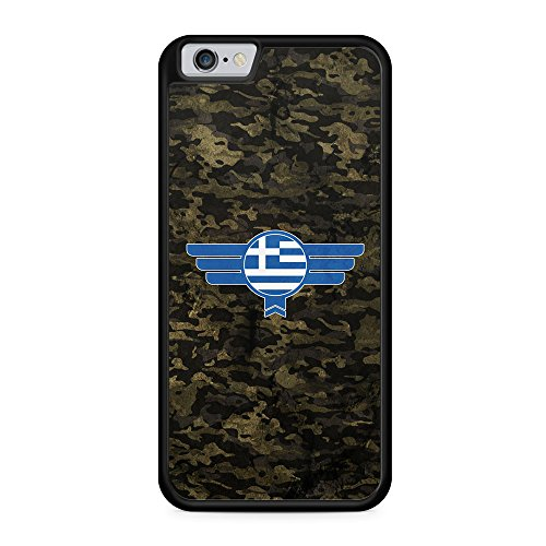 Hellas Griechenland Camouflage - Hülle für iPhone 6 & 6s SILIKON Handyhülle Case Cover Schutzhülle - Greece Flagge Flag Military Militär