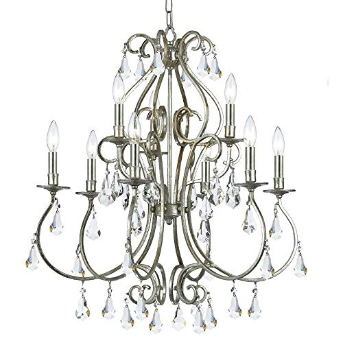 Crystorama 2912-OB-CL-S, Novella Swarovski Crystal Chandelier Lighting, 12 Light, 720 Watts, Brass