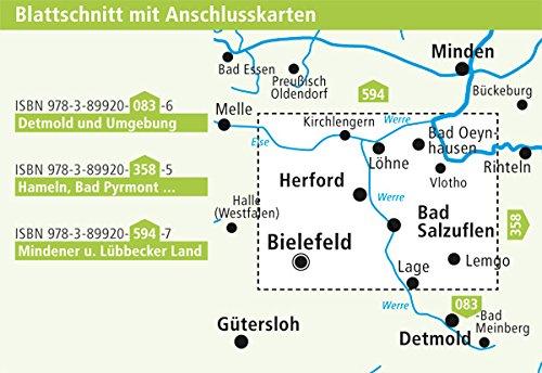 Herford Bad Oeynhausen Bad Salzuflen Rad Und Wanderkarte Mit