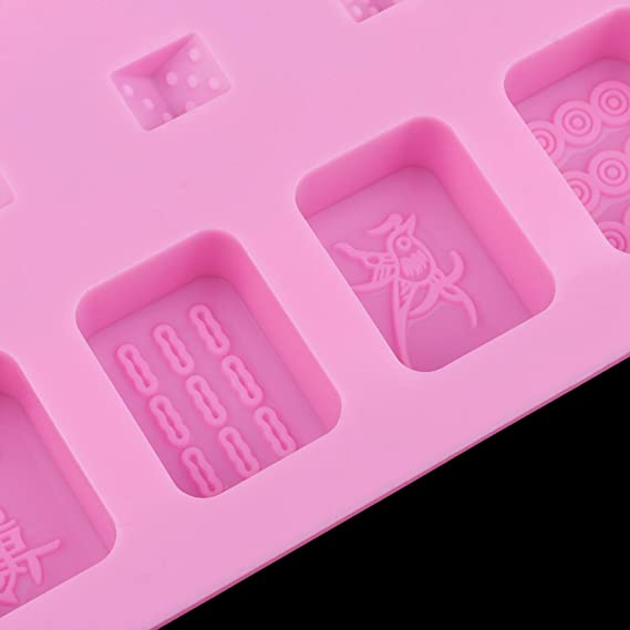 Chinese Mahjong Silicone Mold Chocolate Ice Cube Mold Resin Craft Mould Tool