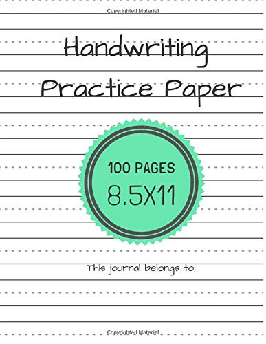 Handwriting Practice Notebook Dotted Students product image