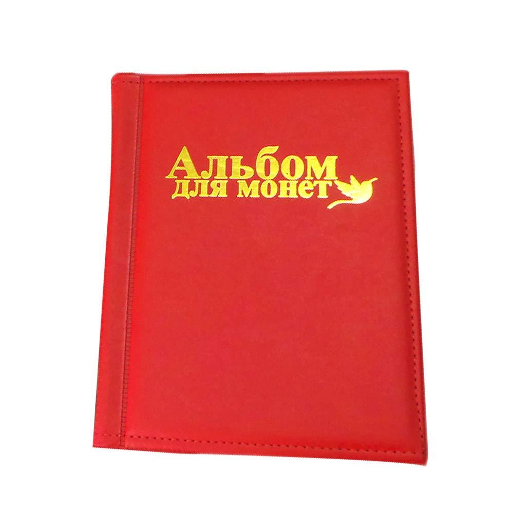 Portatile Album commemorativo per 250 unit/à Tasca Decorativa per la casa Red Marrone in Poliuretano Taglia Libera LNIMIKIY Idea Regalo Grande Collezione di Libri 10 Pagine