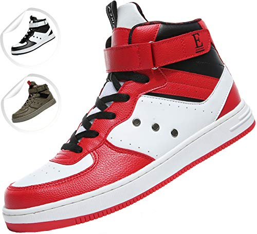 Elaphurus Mens Mid Basketball Shoes Outdoor Trainers Fashion Sneaker Red