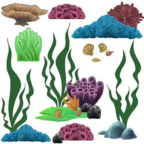 Wall Decals Appliques (Create-A-Mural Beautiful Hand-painted Looking Coral Wall Decals Appliques ~ (34) Stickers from 1