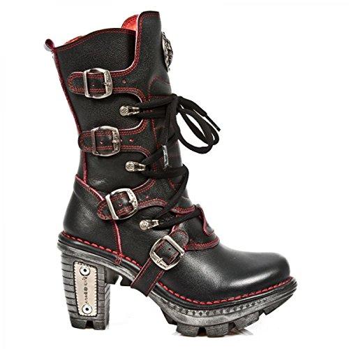 Nieuwe Rock Handgemaakte M Neotr005 C18 Schwarz Damen Stiefel