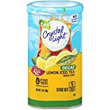Crystal Light Iced Tea Natural Lemon Decaf Drink Mix (8-Quart), 1.0-Ounce Packages (Pack of 4)