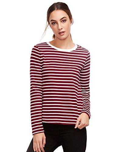 burgundy striped shirt