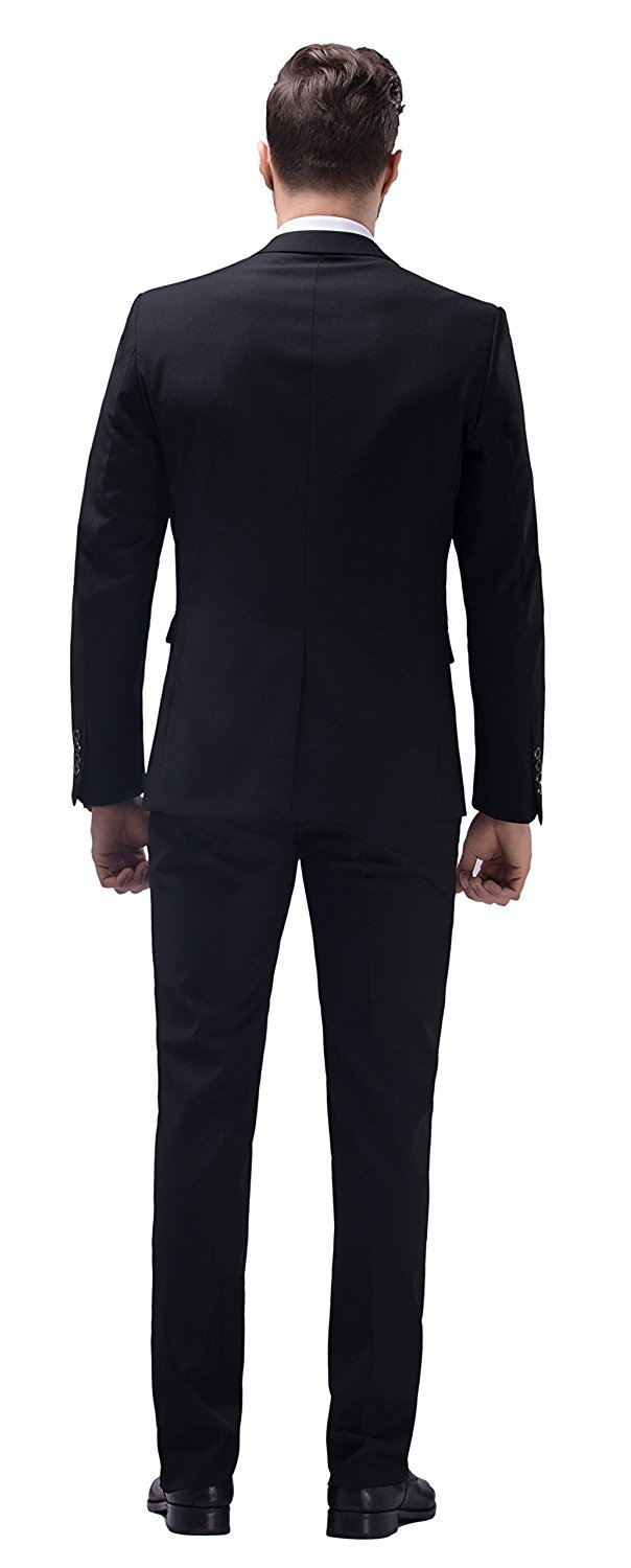 WULFUL Men's Suit One Button Slim Fit 2 Piece Suit for Men Casual/Formal/Wedding Party/Tuxedo by WULFUL (Image #5)