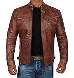 Mens Vintage Biker Distressed Genuine Leather Jackets| Diamond Classic-1, M
