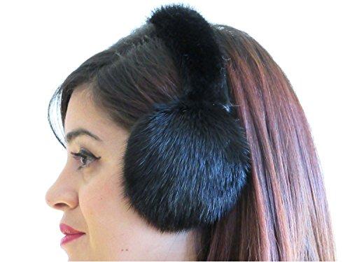 Ranch Mink Ear Muffs w/Fur on Band