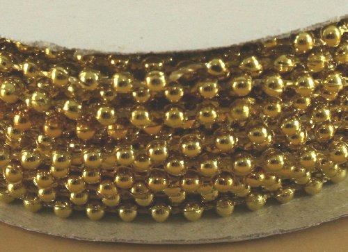 Pearl Plastic Beads String Metallic