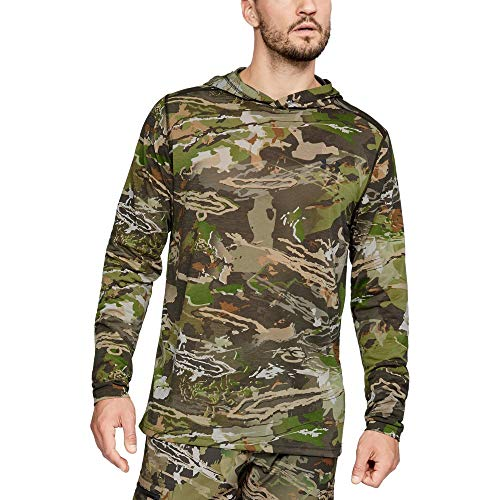 (Under Armour Men's TB Early Season Base Hoodie, Ua Forest Camo (940)/Black, Large)