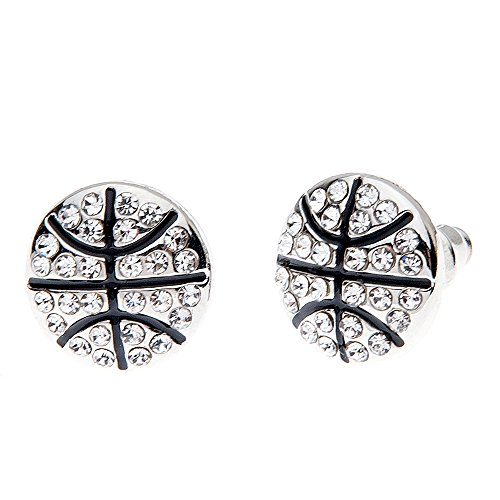 Infinity Collection Basketball Earrings- Basketball Jewelry- Perfect Basketball Gifts]()