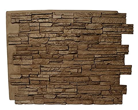 Nashville Dry Stack Smoke Slate Panel (Mojave Brown) - Faux Stone Siding